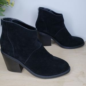 Steve madden Shrines Black Suede Ankle Boot Sz 10M